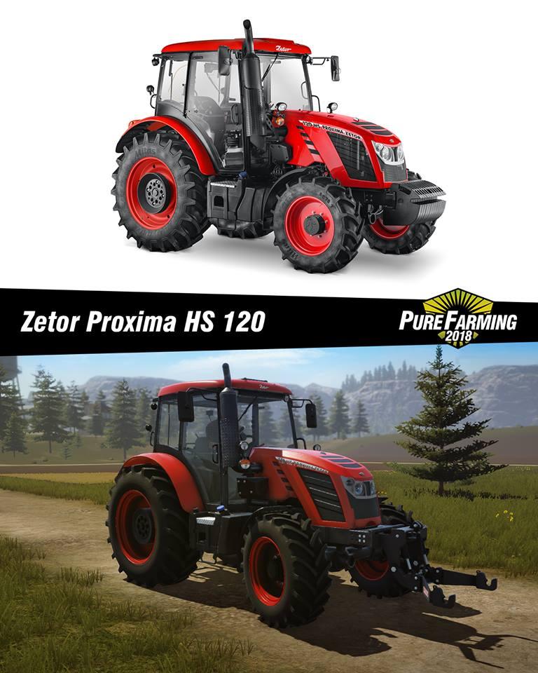 Champion the ZETOR Proxima HS 120   Pure Farming 2018 mods   PF 2018