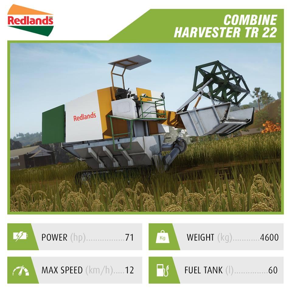 Redlands Combine Harvester TR 22 pf 2018 | Pure Farming 2018